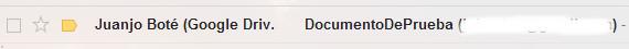 Correo Electronico Google Docs