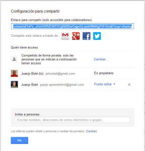Compartir Google Drive