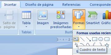 Cuadro de Texto Word 2007