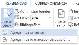 Como hacer una bibliografia en Word