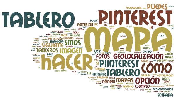Pinterest Nube de Palabra Tablero