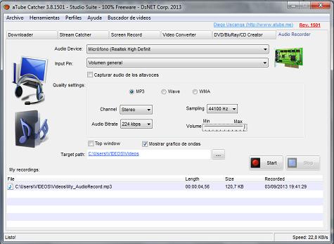 aTube Catcher audio recorder