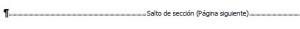 Salto Seccion Word