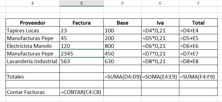 Funcin Contar en Excel para Gestionar Facturas