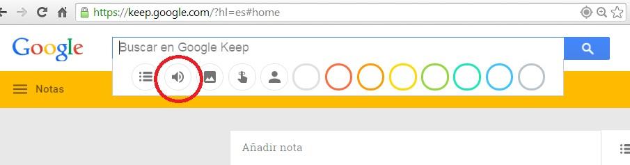 Google Keep Audio
